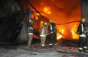 """حريق فى شونة لـ""""قش الأرز"""" بالغربية.. والدفع بـ5 سيارات إطفاء"""