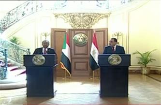 مؤتمر صحفى بين رئيسى وزراء مصر والسودان