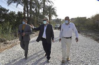 محافظ أسيوط يتفقد أعمال رصف طريق «الهدار - الجمسة» بمدينة ساحل سليم   صور