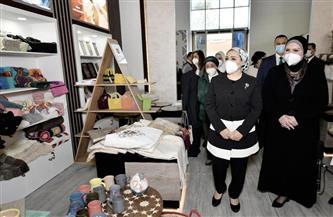 """انتصار السيسي: معرض """"البازار"""" يعكس قدرة الصناع المصريين على الإبداع والتصميم والتعبير عن أصالة الشخصية المصرية"""