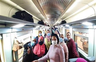 قطار الشباب يستأنف رحلاته إلى محافظتي الأقصر وأسوان| صور