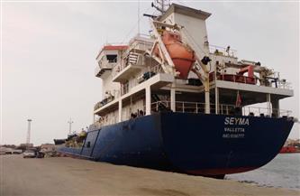 شحن 5 آلاف طن صودا كاوية من ميناء غرب بورسعيد   صور