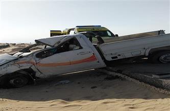 إصابة 5 أشخاص من أسرة واحدة في حادث انقلاب سيارة بطريق «السويس - عيون موسى»
