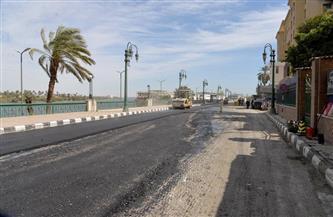 محافظ أسيوط يتفقد أعمال إعادة رصف وصيانة امتداد شارع الثورة | صور