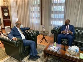 مندوب مصر بالاتحاد الإفريقي يستقبل سكرتيرعام منطقة التجارة الحرة القارية   صور