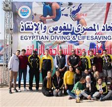 أبطال أندية وادي دجلة لسباحة الزعانف يتوجون بجوائز بطولة كأس مصر   صور