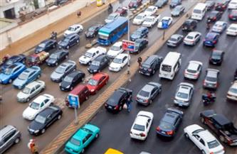 كثافات مرورية عالية بكورنيش النيل وكوبري أكتوبر