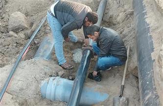 رئيس مياه القناة: إصلاح كسر مفاجئ بالخط الرئيسي |صور