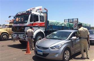 تحرير 415 مخالفة مرورية على الطرق الرئيسية والسريعة في سوهاج