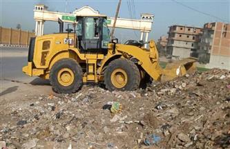 رفع 85 طن قمامة ومخلفات وصيانة كشافات الإنارة العامة في قرى طنطا