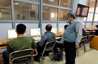 107 طلاب يؤدون الامتحانات الإلكترونية بـ«هندسة طنطا»| صور