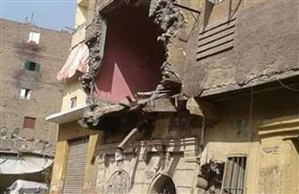 إخلاء منزل من قاطنيه بسوهاج عقب انهيارالدور الأول