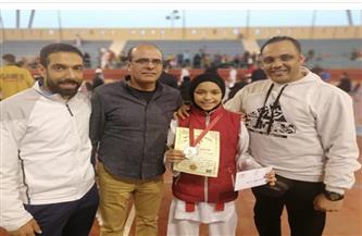"""منة محمود لاعبة الزمالك تتوج بفضية """"الرانك"""" للكاراتيه"""