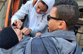 هيئة الإسعاف تشارك فى تطعيم الأطفال بالسويس| صور