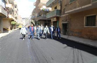 محافظ المنوفية يتابع رصف الشوارع بحي غرب شبين الكوم | صور