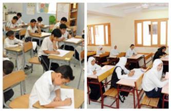5705 طلاب وطالبات بالصف السادس الابتدائى يؤدون امتحانات نهاية العام فى الوادي الجديد