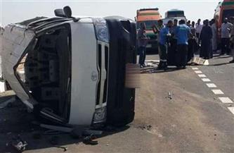 وفاة طالبة وإصابة 11 آخرين في انقلاب ميكروباص على كوبري أجا بالدقهلية