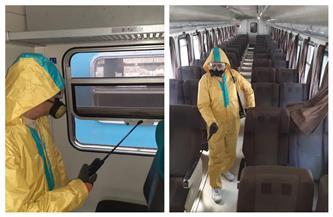 استمرار أعمال التطهير والتعقيم للمحطات والقطارات لمواجهة فيروس كورونا | صور