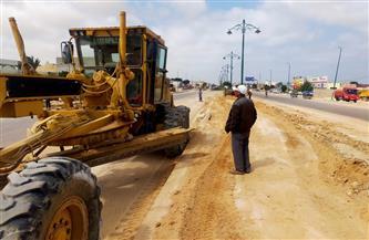 مدينة مرسى مطروح: تمهيد 45 كيلو متر طرق ترابية في 4 مناطق سكنية | صور