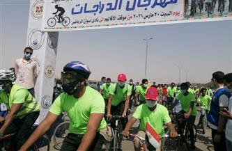وزير الرياضة يطلق مهرجان الدراجات في أسوان بمشاركة ١٠٠ شاب وفتاة| صور
