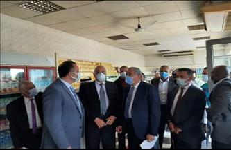 وزير التموين يزور فرع دلتا ماركت دهب خلال جولته بجنوب سيناء