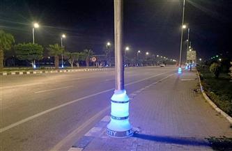 بدء تنفيذ خطة تركيب إضاءة ديكورية بالشوارع والطرق الرئيسية بمدينة بدر|صور