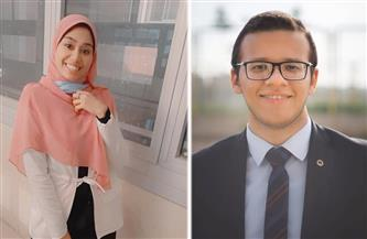 فوز أحمد عصام ورفيدة فرج بلقب الطالب المثالي بجامعة أسيوط