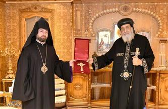 البابا تواضروس يستقبل مطران الأرمن بمصر | صور