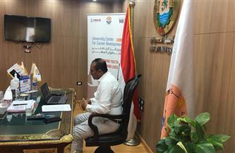 رئيس جامعة أسوان يشارك بالملتقى التوظيفي الثاني 2021