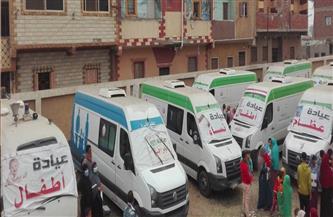 قافلة طبية للكشف وتوفير العلاج بالمجان لـ 1500 مواطن بكوم أبو راضي ببني سويف |صور