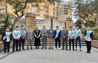جامعة المنصورة تكرم الطلاب المتفوقين