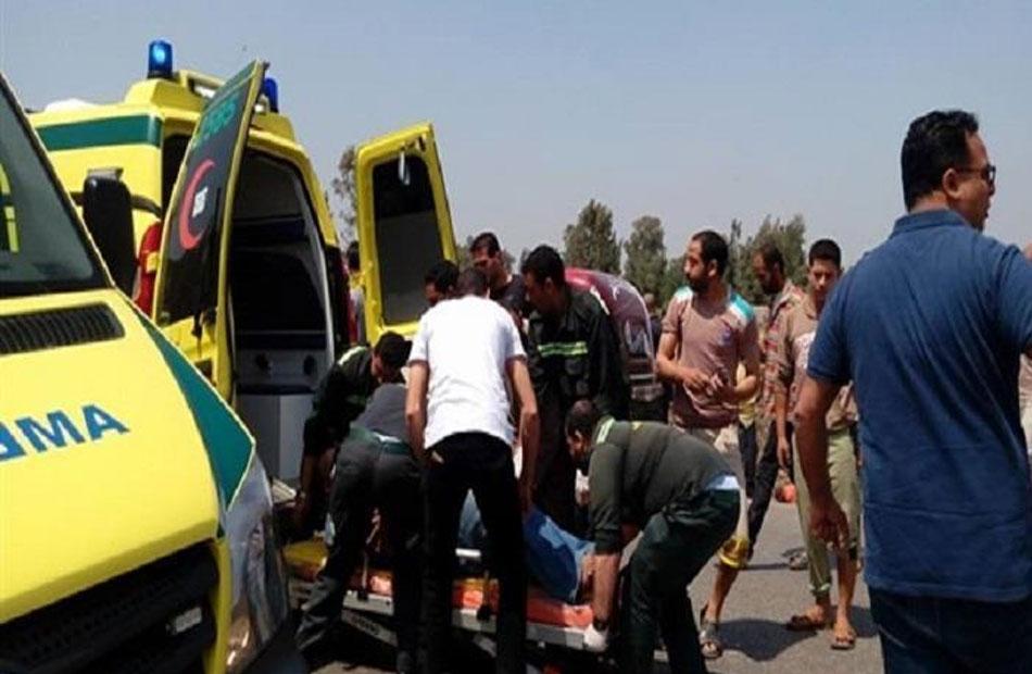 مصرع سيدة وإصابة  أشخاص آخرين في حادث انقلاب سيارة بالقليوبية