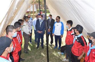 رئيس جامعة سوهاج يشهد فعاليات المعسكر الدراسي الكشفي للتربية الرياضية | صور