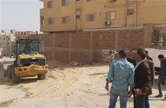 استمرار رفع المخلفات وإعادة الانضباط بحدائق الأهرام بالجيزة   صور