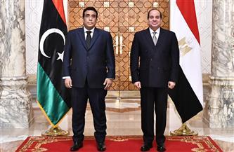 رئيس المجلس الرئاسي الليبي يغادر القاهرة بعد لقاء الرئيس السيسي
