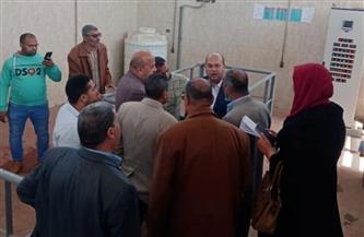 نائب محافظ الجيزة يتفقد محطة الصرف الصحي بكفر حلاوة ومياه الشرب بأطفيح |صور