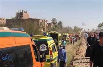«الصحة»: ارتفاع المصابين في حادث تصادم قطاري طهطا إلى 108 حالات و32 وفاة