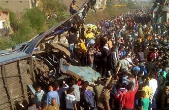 وزير النقل يتفقد موقع حادث تصادم قطاري طهطا بسوهاج.. ويوجه بمحاسبة المتسببين