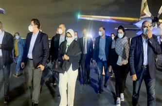 وزيرة الصحة تصل القاهرة برفقة 3 من مصابي حادث قطاري سوهاج لتلقي الخدمة الطبية بمعهد ناصر  صور