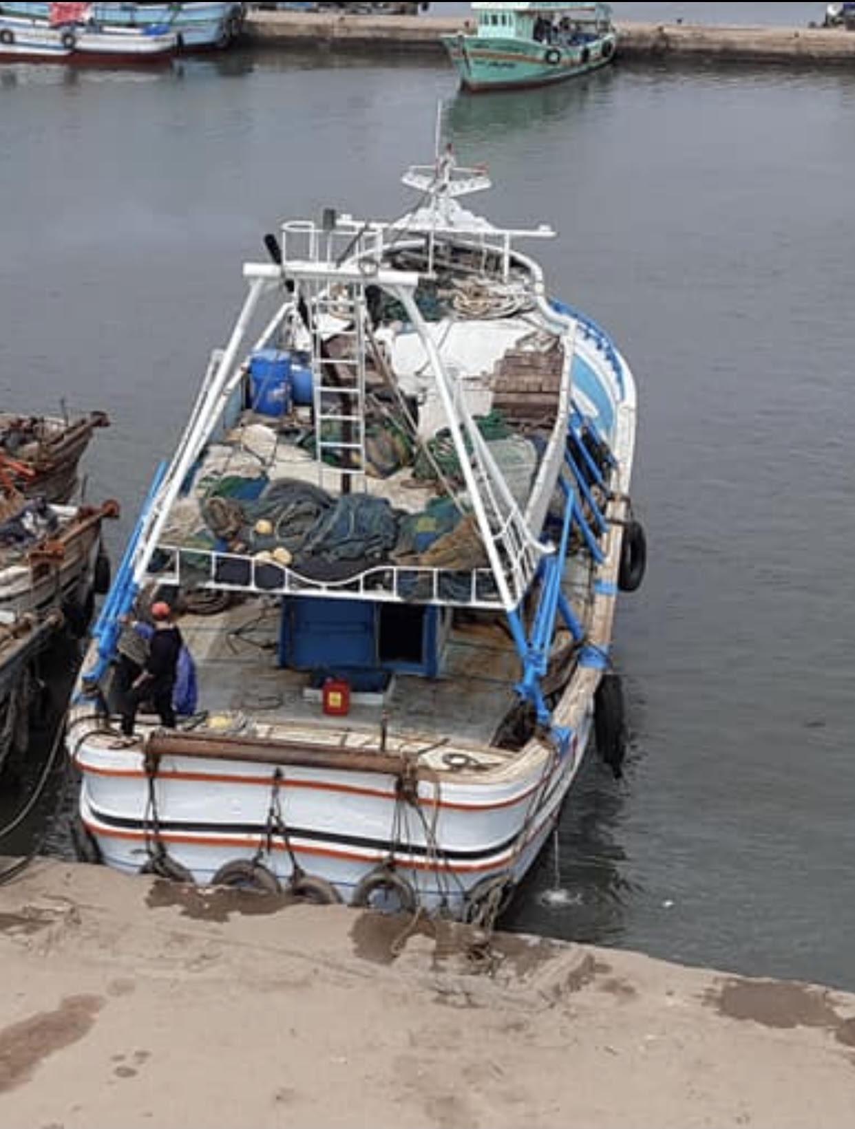 استئناف الملاحة بميناء الصيد بالبرلس