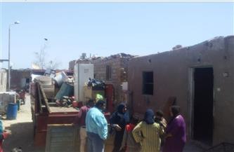 نقل وتسكين 7 أسر من «منطقة زرزارة» لمنطقة بديل العشوائيات بسفاجا | صور