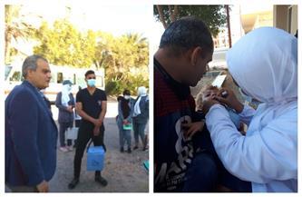 وكيل وزارة الصحة يتابع حملة التطعيم ضد مرض شلل الأطفال بالغردقة   صور