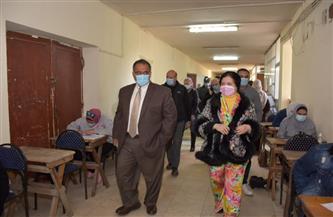جولة تفقدية لنائب رئيس جامعة عين شمس لامتحانات كلية البنات|صور