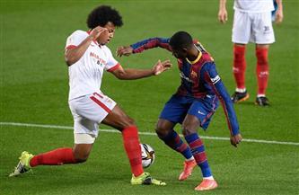 الشوط الأول: «ديمبلى» يتقدم لبرشلونة على إشبيلية في كأس الملك