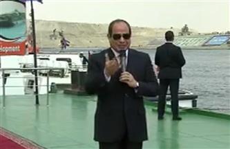 الرئيس السيسي: نتباهى بالشركات والعمالة المصرية فى المشروعات التنموية