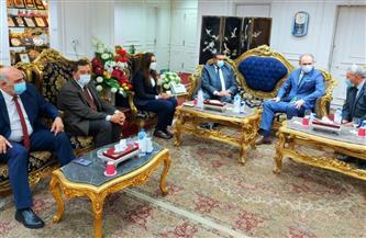 محافظ البحيرة يستقبل سفير بيلا روسيا لتوقيع اتفاقية تعاون تجارى | صور
