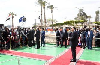 الرئيس السيسي: نعمل على رفع كفاءة قناة السويس بشكل دائم.. وتحديث كامل للقرى المصرية