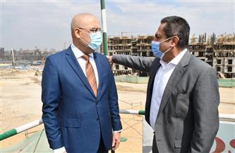 وزير الإسكان يتفقد الموقف التنفيذي لمشروع تطوير منطقة سور مجرى العيون| صور