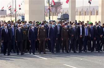 الرئيس السيسي يتقدم الجنازة العسكرية للدكتور كمال الجنزوري بمسجد المشير طنطاوي