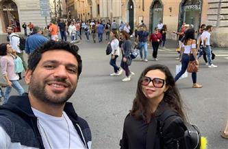 حسن الرداد يحتفل بعيد ميلاد إيمي سمير غانم